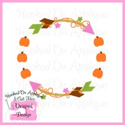Fall Arrow Circle Cut File