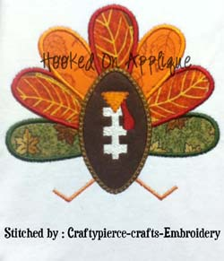 Football Turkey Applique