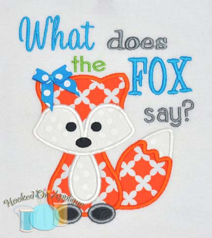 What does the fox say? Applique