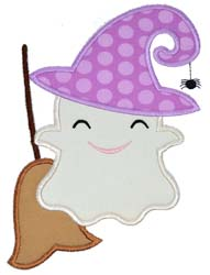 Witch Ghost Applique