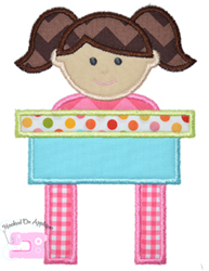 Girl Desk Applique
