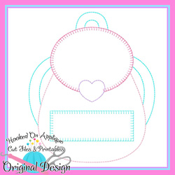 Girl Backpack Bean Applique