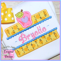 Girly Double Ruler Applique Design