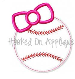 Girly Baseball Applique