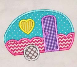 Girly Camper Applique