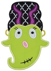 Girly Franken Ghost Applique