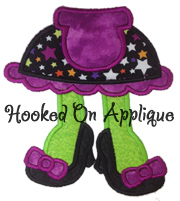 Girly Monster Feet Applique