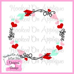 Heart Arrow Circle CUT FILE