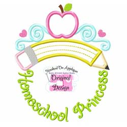 Homeschool Princess Applique