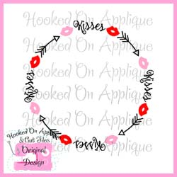 Kisses Arrow Frame CUT FILE