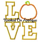 LOVE Pumpkin Applique