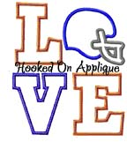 LOVE Helmet 2 Applique