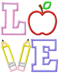 LOVE School Applique
