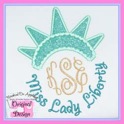 Miss Lady Liberty Applique