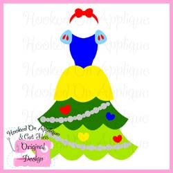 Miss Snow Tree Dress CUT FILE