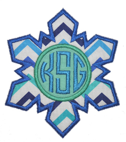 Monogram Snowflake Applique