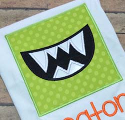 Monster Box Applique