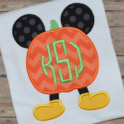 Mr Mouse Pumpkin Applique