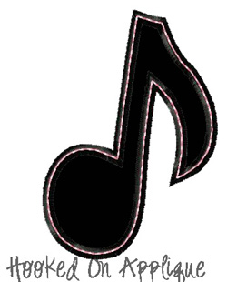 Music Note Applique *FREE*