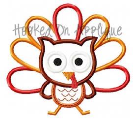 Owl Turkey Applique