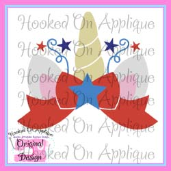 Patriotic Unicorn Topper CUT FILE
