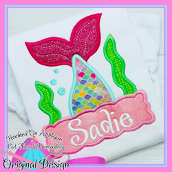 Peek Mermaid Applique
