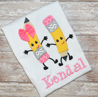 Pencil Pals Applique