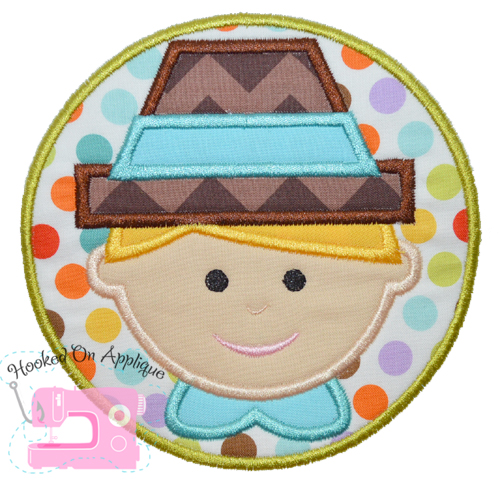 Pilgrim Boy Applique