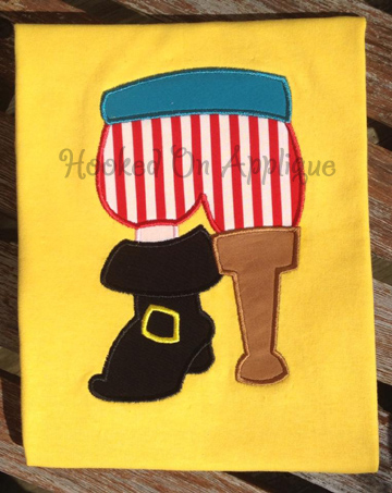 Pirate Feet  Applique