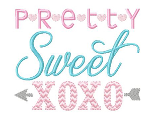 Pretty Sweet XOXO Design