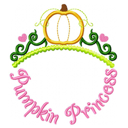 Pumpkin Princess Applique