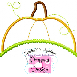 Pumpkin Topper Applique