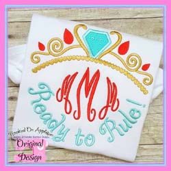 Ready to Rule Applique Design