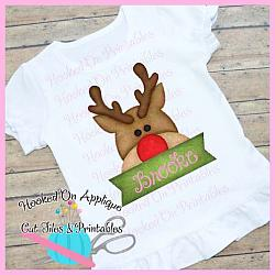Rudolph Peeking PNG Printable