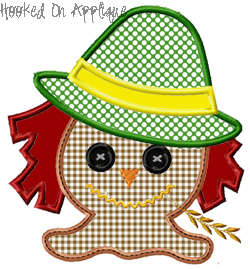 Scarecrow Face Applique