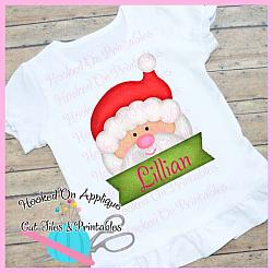 Santa Peeking PNG Printable