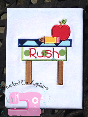School Desk Applique