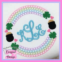 Shamrock Circle Embroidery Design