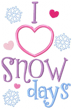 Snow Days Applique