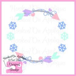 Snowflake Arrow Circle CUT FILE