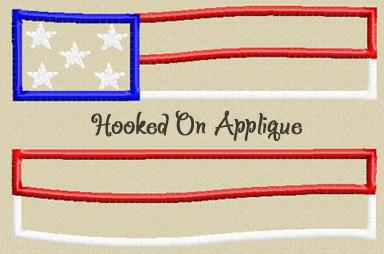Split Flag applique