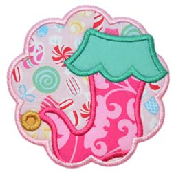 Stocking Scallop  Applique