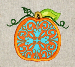 Tendril Pumpkin Applique