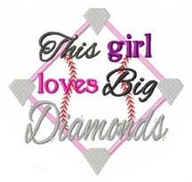 This Girl Loves Big Diamonds Applique
