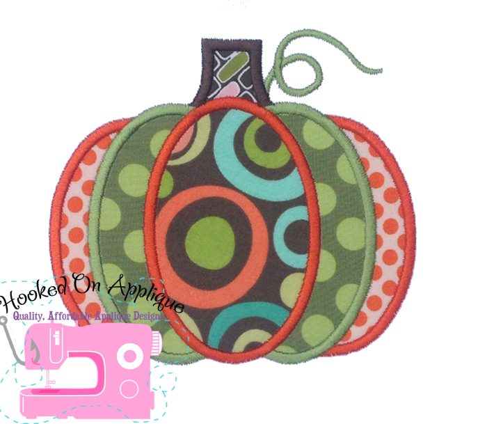 Tri Color Pumpkin Applique