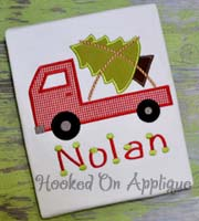 Truck w/ Tree Slanted Applique