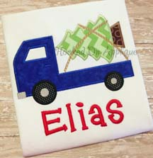 Truck w/ Tree Flat Applique