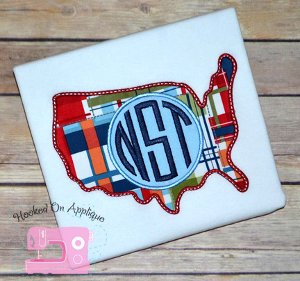 USA Monogram Applique