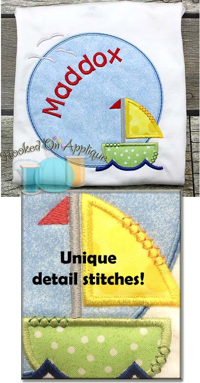 Sailboat Circle Applique