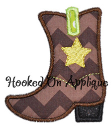 Western Boot applique